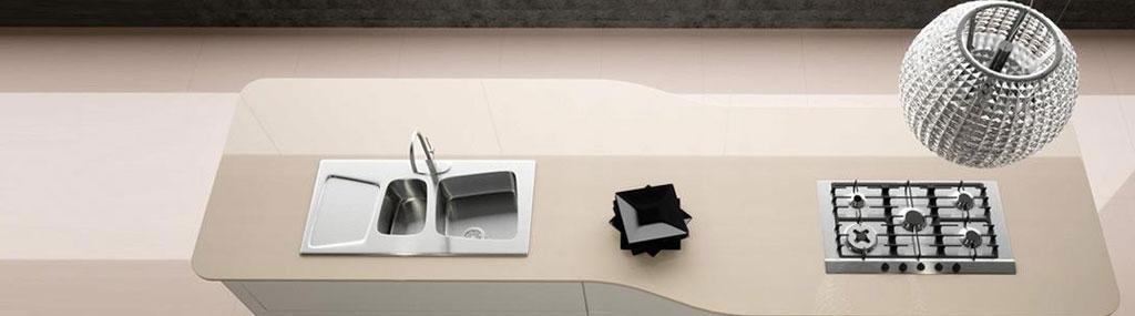 Compac Vanille quartz worktops