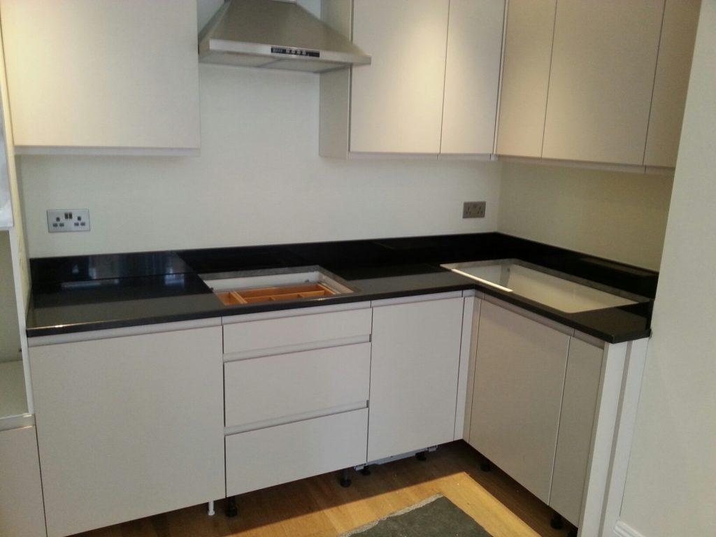 Absolute Black granite kitchen worktops