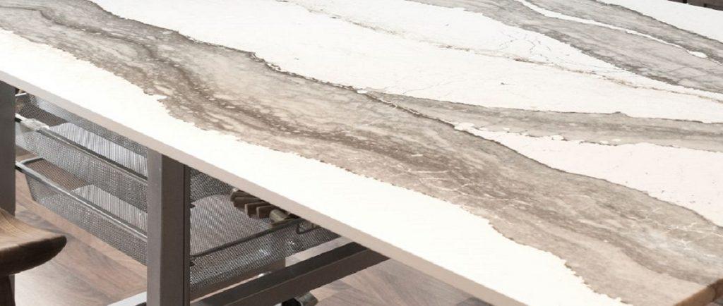 cambria skara brae quartz kitchen island