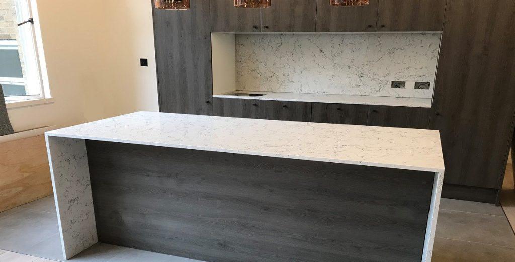 Caesarstone White Attica countertops