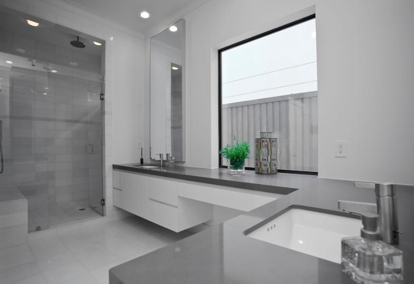 Gris Expo Vanity Top by Dallas Interior Renovations