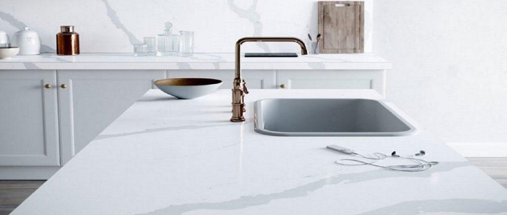 silestone bianco calacatta kitchen