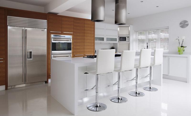 1141 Caesarstone Pure White Kitchen Worktops