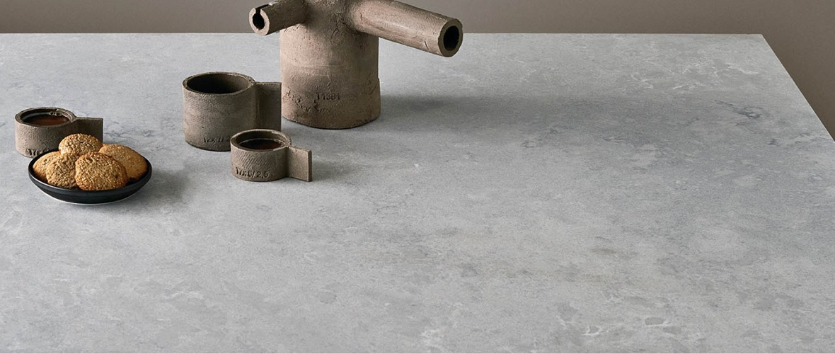 caesarstone airy concrete kitchen