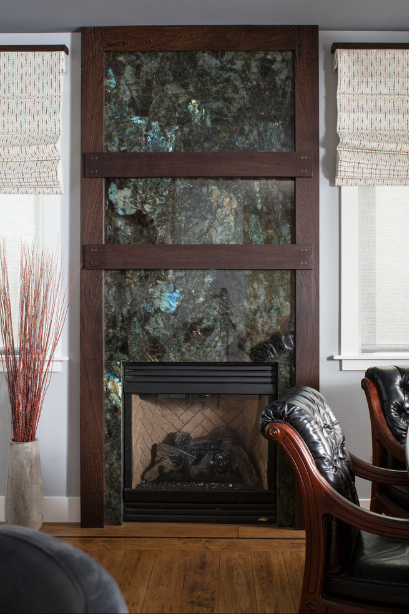 Labradorite-blue-granite-fireplace