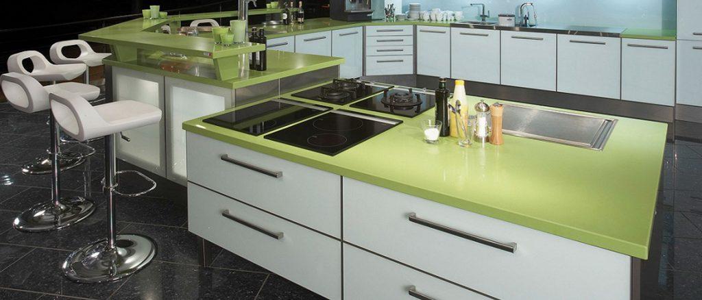 silestone verde fun kitchen worktops