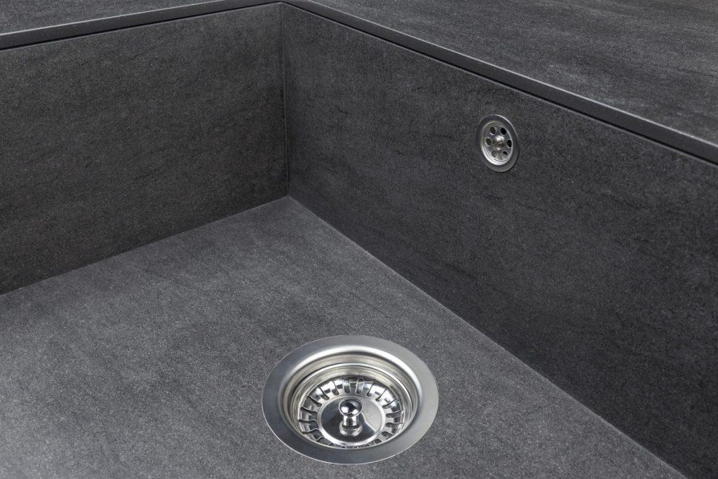 Neolith basalt black built-up sink