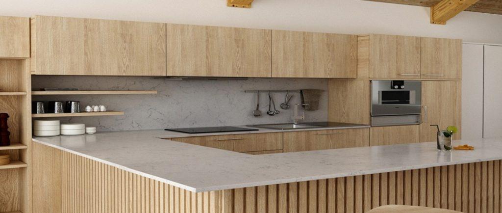 unistone valley white kitchen worktops