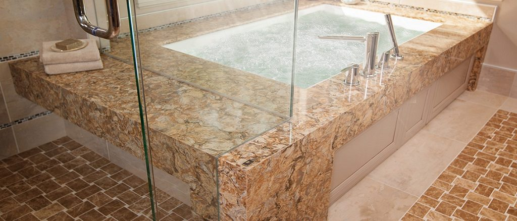 Cambria Buckingham quartz bathroom bath top