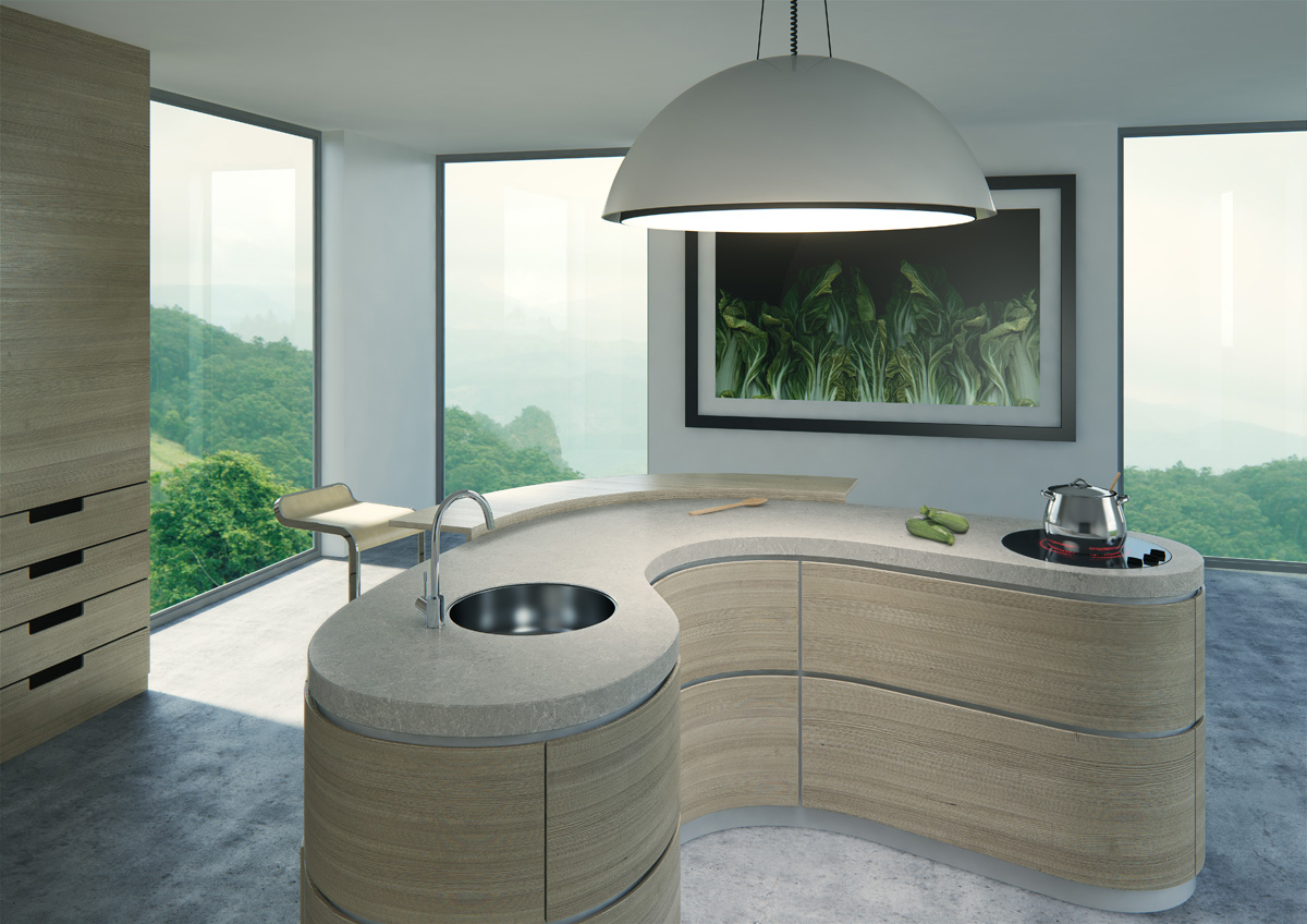 Caesarstone Bianco Drift Kitchen Worktops 2