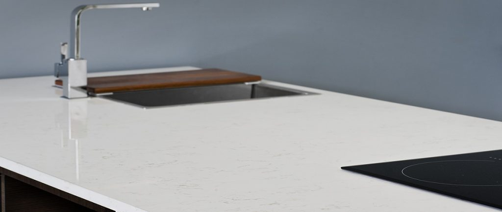 unistone bianco carrara kitchen worktops