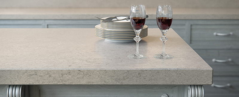 6131 Caesarstone Bianco Drift Kitchen Worktops