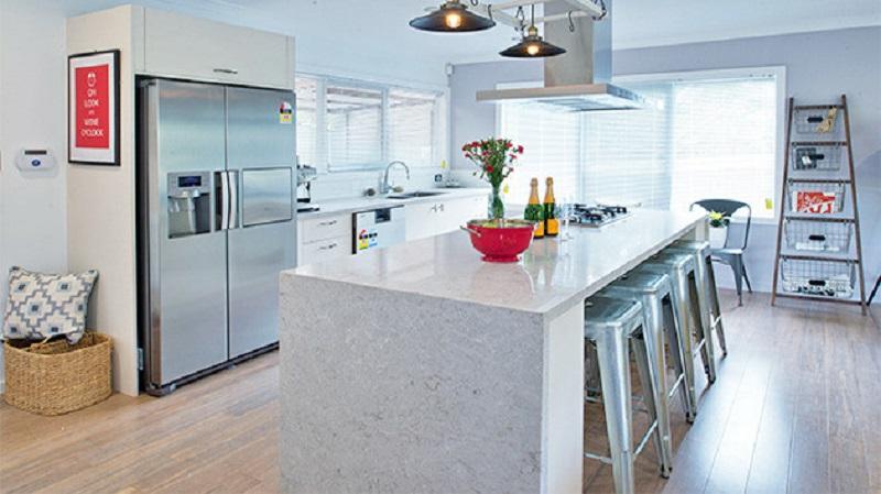 6131 Caesarstone Bianco Drift Kitchen Worktops 4