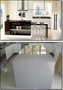 compaq quartz & limestone worktops