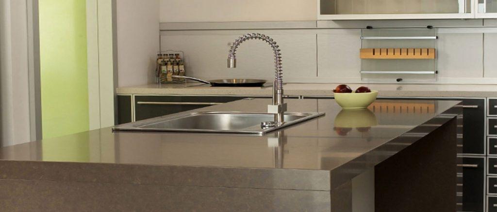 4330 caesarstone quartz ginger kitchen island