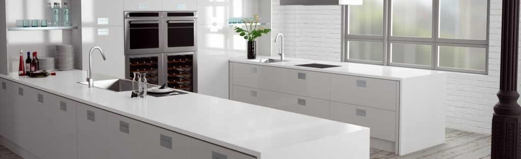 Compac Absolute Blanc Glace finish
