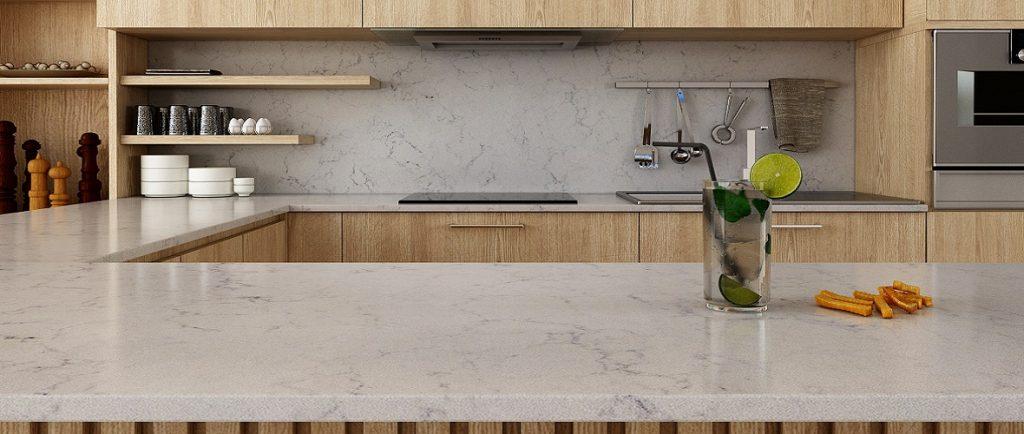 unistone valley white kitchen worktops and splashbacks