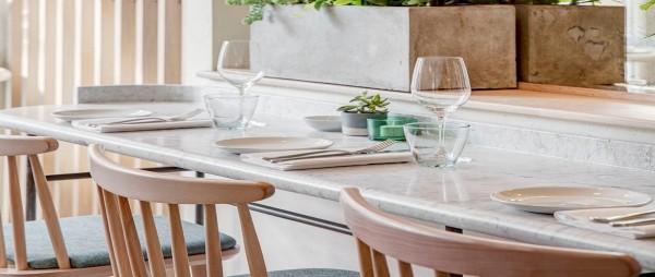 Carrara marble polished worktops