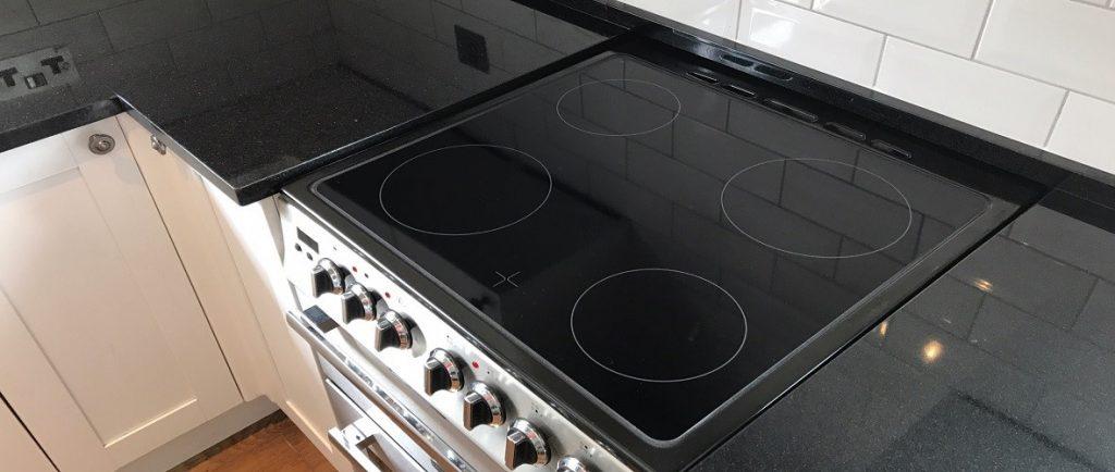 black granite kitchen worktops