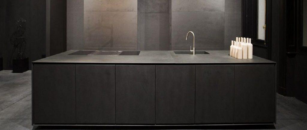laminam seta liquorice kitchen worktops