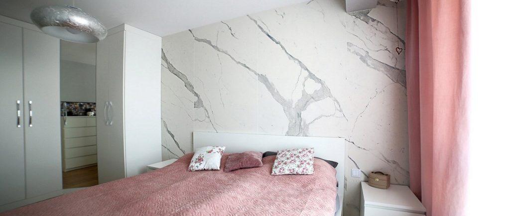 laminam bianco statuario venato bedroom