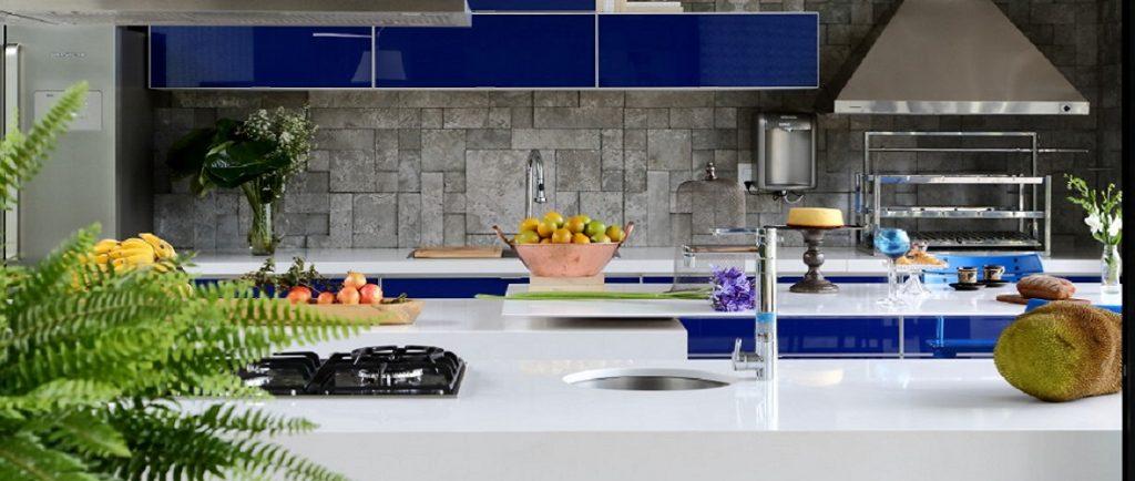 Silestone Blanco Zeus Quartz Kitchen Worktops